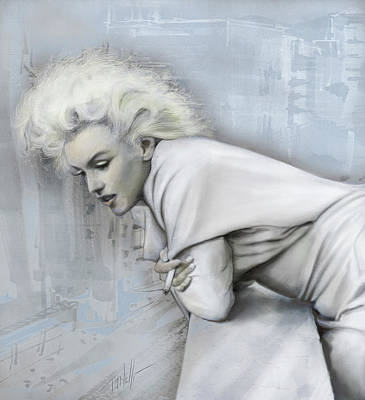 Surrealism Royalty-Free and Rights-Managed Images - The Roof Marylin Monroe  by Mark Tonelli