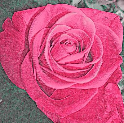 Mixed Media Royalty Free Images - The Rose 1 Royalty-Free Image by Eileen Backman