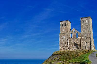 Priska Wettstein Pink Hues Royalty Free Images - The ruins of St Marys Church, Reculver, Kent, England. Royalty-Free Image by Joe Vella