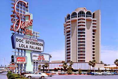 Photograph - The Sands Casino and Sign in the Afternoon 1978 by Aloha Art