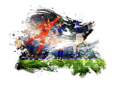 Sports Royalty-Free and Rights-Managed Images - The Save by All Sport Art