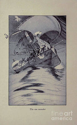 Drawings Royalty Free Images - The Sea Monster i1 Royalty-Free Image by Historic illustrations