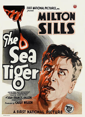 Personalized Name License Plates - The Sea Tiger, with Milton Sills, 1927 by Stars on Art