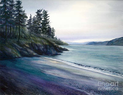 Painting - The Secret Beach by Jacqueline Tribble