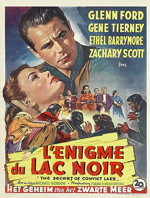 Royalty-Free and Rights-Managed Images - The Secret of Convict Lake, with Glenn Ford and Gene Tierney, 1951 by Stars on Art