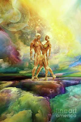 Digital Art - The Secrets Of Heaven And Earth Part One by Olga Hamilton