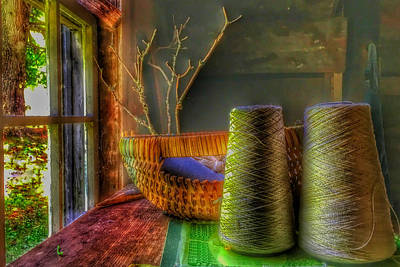 Mellow Yellow - The Sewing Basket by Anthony M Davis