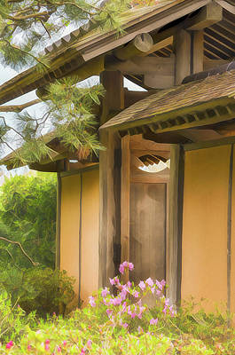 Target Threshold Watercolor - The Shoin House by Julie Palencia