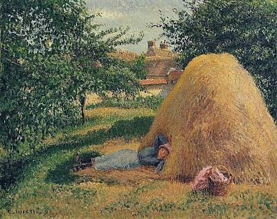 Mountain Landscape Royalty Free Images - The Siesta 1899  by Camille Pissarro 1830  1903 Royalty-Free Image by Artistic Rifki