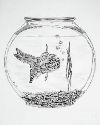 Drawing - The Silent Treatment by Olga Hamilton