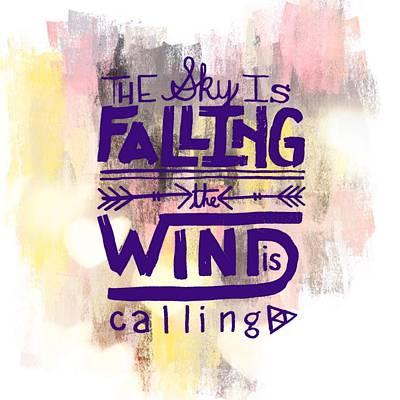Animal Paintings David Stribbling Royalty Free Images - The Sky is Falling Royalty-Free Image by Brandi Fitzgerald