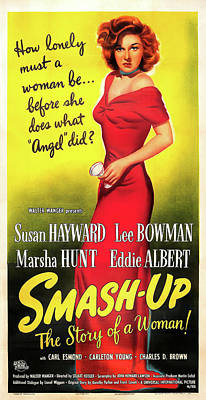 Typography Tees - The Smash-up, with Susan Hayward, 1947 by Stars on Art