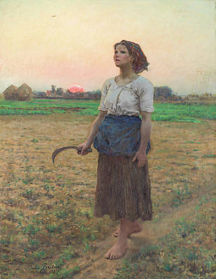 Animal Portraits - The Song of the Lark by Jules Adolphe Breton