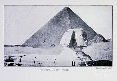 Drawings Royalty Free Images - The Sphinx And The Pyramids i1 Royalty-Free Image by Historic illustrations