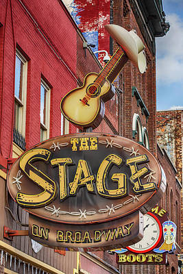 Impressionist Landscapes - The Stage on Broadway Nashville by Stephen Stookey