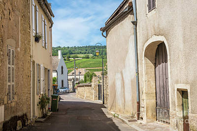 Photograph - The street with ancient buildings in the Meursault. by Beautiful Things
