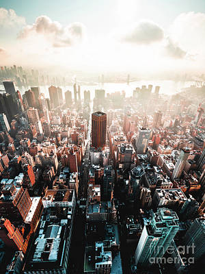 Photograph - The streets of Manhattan as seen from the Empire State Building  by Andrew George Photography