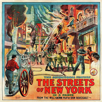 Royalty-Free and Rights-Managed Images - The Streets of New York - 1922 by Stars on Art
