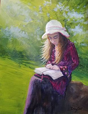Painting - The Studious Child by Dara Dodson