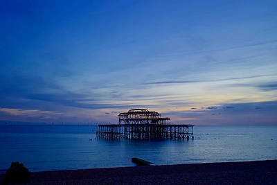 Granger - The sun sets on West Pier, Brighton by Joe Vella