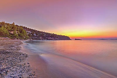 Music Figurative Potraits - The sunrise at the beach Chrisi Milia of Alonissos, Greece by Constantinos Iliopoulos