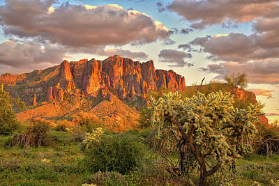 photo print Superstition Mountains AZ View from the edge