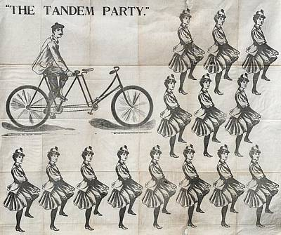 Surrealism Royalty-Free and Rights-Managed Images - The Tandem Party a rare and appealingly surreal party game 1873 by Artistic Rifki