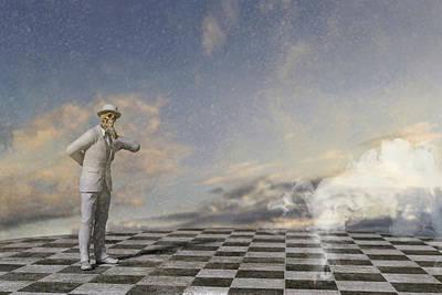 Surrealism Digital Art - The Thinker by Betsy Knapp