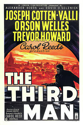 Pasta Al Dente Royalty Free Images - The Third Man movie poster, with Orson Welles, 1950 Royalty-Free Image by Stars on Art