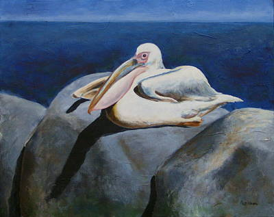 Painting - The Tide Watcher by Charlotte DeMolay