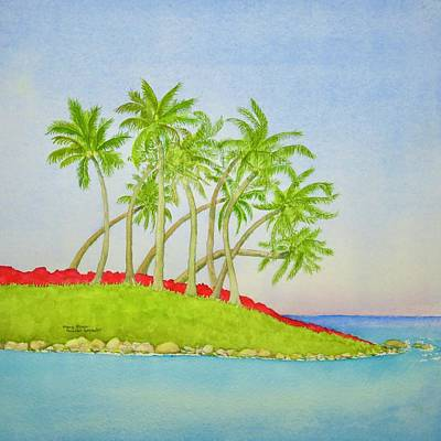 Fashion Paintings Rights Managed Images - The Topic is Tropics Royalty-Free Image by Mary Ellen Mueller Legault