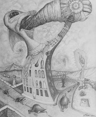 Surrealism Royalty-Free and Rights-Managed Images - The Tower by Yulia Kazansky
