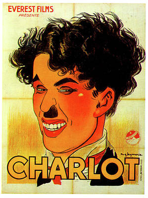 Mixed Media Royalty Free Images - The Tramp Charlot Charlie Chaplin poster Royalty-Free Image by Stars on Art
