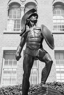 Lake Life - The Trojan Statue at USC looking up  by John McGraw