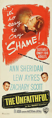 Royalty-Free and Rights-Managed Images - The Unfaithful, with Ann Sheridan and Lew Ayres, 1947 by Stars on Art