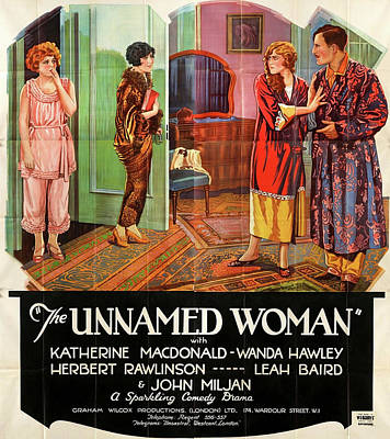 Royalty-Free and Rights-Managed Images - The Unnamed Woman movie poster  1925 by Stars on Art