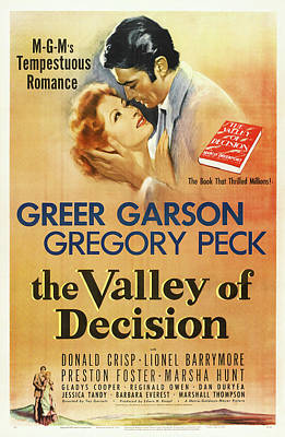 Royalty-Free and Rights-Managed Images - The Valley of Decision, with Greer Garson and Gregory Peck, 1945 by Stars on Art