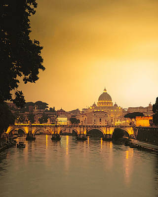 Robert Bellomy Royalty-Free and Rights-Managed Images - The Vatican at Sunset by Robert Bellomy