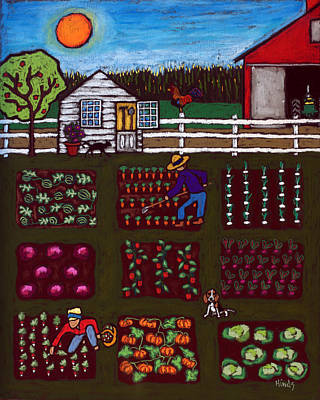 Celebrity Pop Art Potraits - The Vegetable Patch by David Hinds