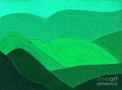 Royalty-Free and Rights-Managed Images - The Verdant Highlands Painting by Thomas R Fletcher
