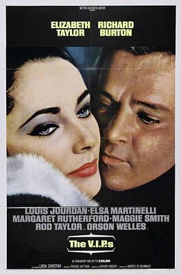 Moody Trees - The V.I.P.s, with Elizabeth Taylor and Richard Burton, 1963 by Stars on Art