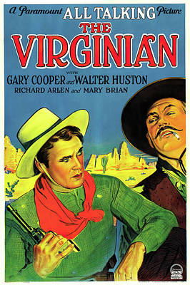 Wild And Wacky Portraits - The Virginian, with Gary Cooper and Walter Huston, 1929 by Stars on Art