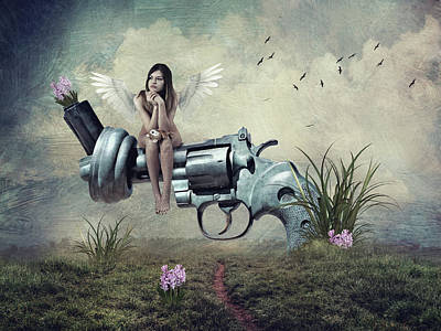 Surrealism Royalty-Free and Rights-Managed Images - The war is over by Mihaela Pater