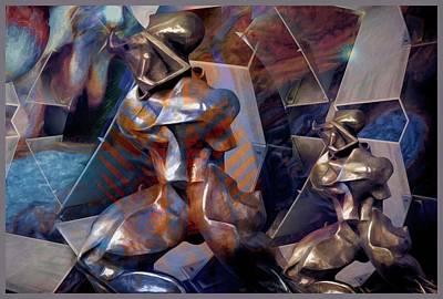 Surrealism Digital Art - The Warrior Of Time by Daniel Arrhakis