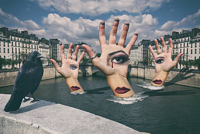 Surrealism Royalty-Free and Rights-Managed Images - The Watchers by Chris Koelbleitner