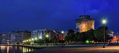Royalty-Free and Rights-Managed Images - The White Tower of Thessaloniki night view by Alexios Ntounas