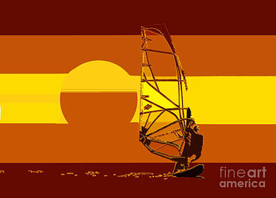 Sports Royalty-Free and Rights-Managed Images - The wind surfer design A by David Lee Thompson