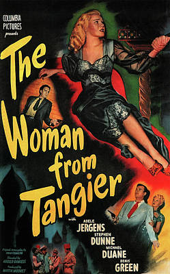 Mixed Media Royalty Free Images - The Woman From Tangier poster 1948 Royalty-Free Image by Stars on Art