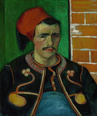David Bowie Royalty Free Images - The Zouave Arles June 1888 Vincent van Gogh 1853  1890 Royalty-Free Image by Arpina Shop