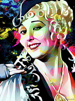 Monets Water Lilies Rights Managed Images - Thelma Todd Royalty-Free Image by Stars on Art
